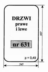 SZYBA DRZWI PRAWE I LEWE ŁADOWACZ Ł34