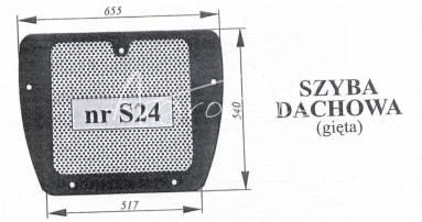 SZYBA DACHOWA ZETOR MAJOR 935523