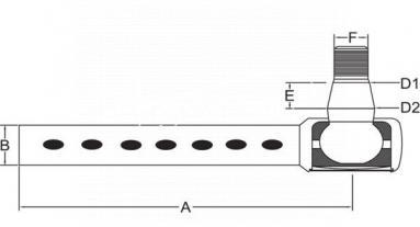 Przegub kulowy drążka kierowniczego poprzecznego pasujący do Case 3058213R91