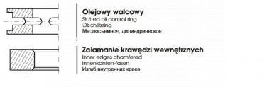 PIERŚCIEŃ OLEJOWY MF4 98,476x6,35x3,6