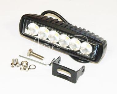 Lampa robocza prostokątna 6x3W LED Motorra