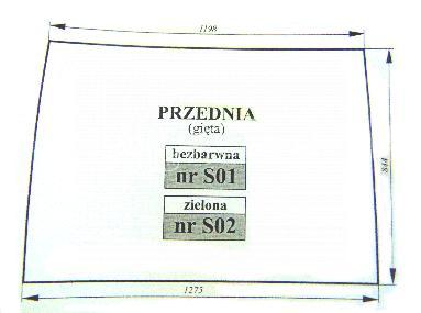 szyba przednia Zetor Proxima, bezbarwna