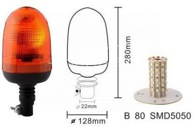 Lampa obrotowa LED przegub ECE R65 ECE R10  Motorra