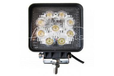 Lampa robocza LED 9*3W kwadratowa Motorra