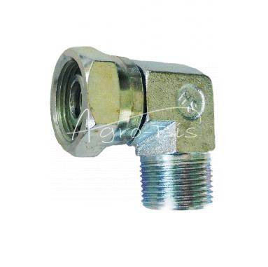 Kolanko hydrauliczne korp. 13 M22*1.5 + nakrętka