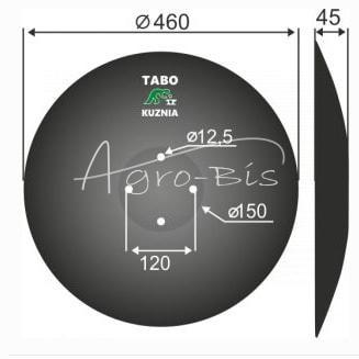 TALERZ BRONY AMAZONE 460/4otwory