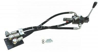 Zestaw zewnętrznego rozdzielacza C-330 1 pływający, węże elastyczne; HAN00959