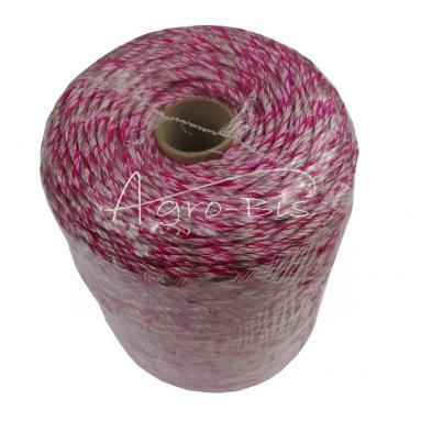 Plecionka 400m różowa