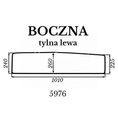 Szyba boczna tylna lewa Kubota BX231