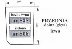 Szyba przednia dolna Zetor Proxima lewa 53369041