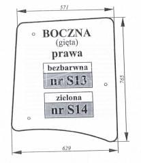 Szyba boczna prawa Proxima Forterra
