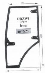 Szyba drzwi lewa Zetor Major 935535