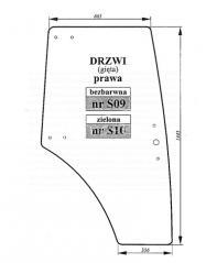szyba drzwi prawych, bezbarwna do Proxima