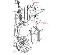 przewód zbiornika paliwa  A2550022 odstojnika t25