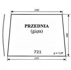 Szyba przednia (gięta) do ciągnika Pronar 82A, 82SA, 82TSA, 1025A, 1221A