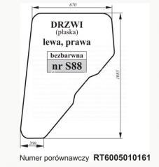 SZYBA DRZWI JOHN DEERE RT6005010161