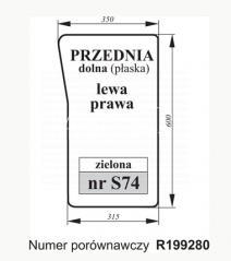 SZYBA PRZEDNIA DOLNA JOHN DEERE R199280