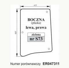 SZYBA BOCZNA JOHN DEERE ER047311