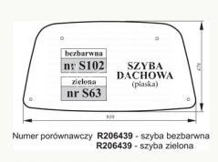 SZYBA DACHOWA JOHN DEERE ZIELONA