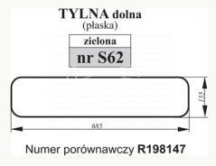 SZYBA DOLNA ZIELONA JOHN DEERE R198147