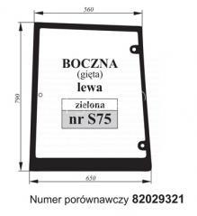 SZYBA BOCZNA LEWA CASE 82029321