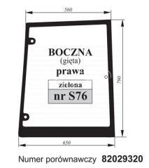 SZYBA BOCZNA PRAWA CASE 82029320