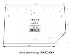 SZYBA TYLNA CLAAS AXOS 6005029099