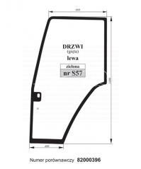 SZYBA DRZWI LEWA FIAT 82000396