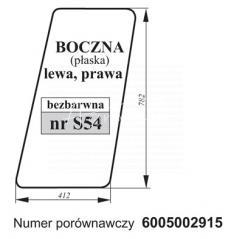 SZYBA BOCZNA RENAULT 6005002915