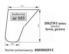 SZYBA DRZWI DOLNA RENAULT 6005002913