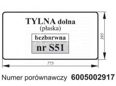 SZYBA TYLNA DOLNA RENAULT 6005002917