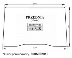 SZYBA PRZEDNIA RENAULT 6005002910