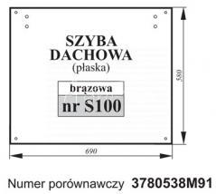SZYBA DACHU MF 3780538M91