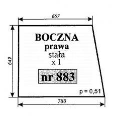 Szyba boczna prawa stała MF2620