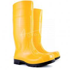 Bardzo wytrzymałe obuwie specjalistyczne, przystosowane do pracy w trudnych i niebezpiecznych warunkach.
