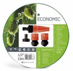 """Zestaw ECONOMIC wąż 3/4"""" 20 mb +końcówki"""