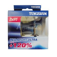 Zestaw dwóch żarówek H1 12V Megalight Ultra