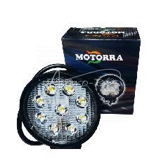 Lampa robocza LED 9*3W okrągła Motorra