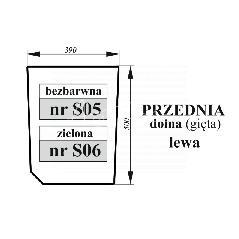 Szyba przednia dolna lewa Zetor Proxima