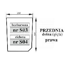 Szyba przednia dolna prawa Zetor Proxima bezbarwna