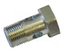 Śruba przelewowa metryczna M14*1,5 15 FI 0,8