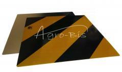 Tablica odblaskowa żółto czarna 423x423  TabŻC44