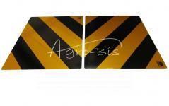 Tablica odblaskowa żółto czarna 300x400  tabŻC34