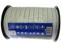 Taśma elektryzatora 10mm /200mb biała  17249