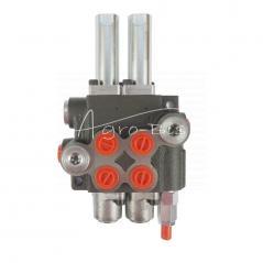 Rozdzielacz hydrauliczny dwusekcyjny ( 2sekcyjny ) 40L/min na linki sterowany joystickiem
