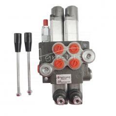 Rozdzielacz hydrauliczny dwusekcyjny ( 2sekcyjny ) 40L/min z dwoma sekcjami pływającymi