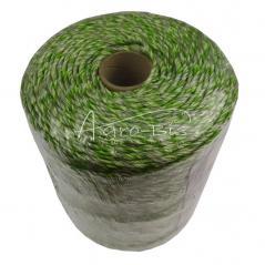 Plecionka 400m zielona