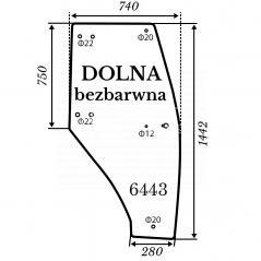 Szyba drzwi Kubota L3200 bezbarwna
