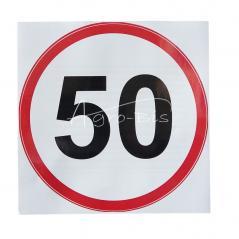 Naklejka ograniczenie prędkości 50 km/h