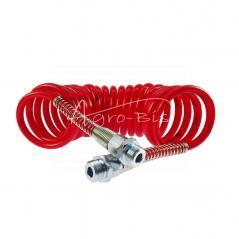 Przewód łączeniowy spiralny czerwone osł poliamid gwint zewnętrzny 22x1.5 dł 6m ARCHIMEDES